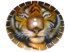 Tiger Trennscheibe Airbrush Custompainting